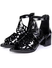 Liquidación! Covermason Vintage Summer Women Shoes Sandalias Plataforma Wedge High Heels Bohemian Shoes(37 EU, Negro)