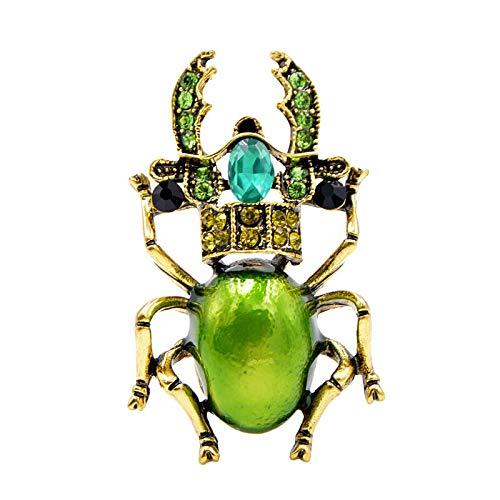 Grüne Käfer Brosche für weibliche Brosche kleines Insekt Schmuck Geschenk 3,8 * 2,5 cm