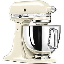 Kitchenaid Artisan 5KSM125EAC - Robot de cocina, tazón de 4.8 L, 300 W, color crema