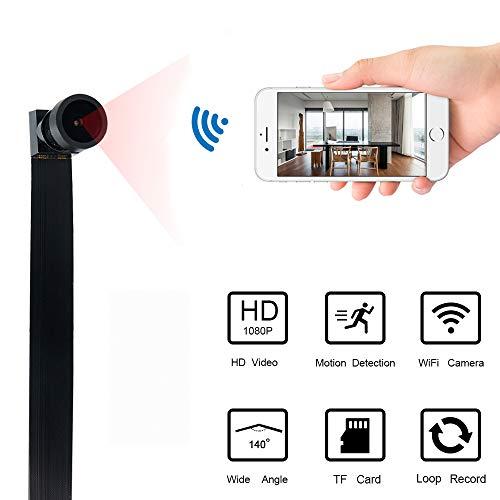 Mini WiFi Telecamera UYIKOO Hidden Spy Camera 1080P HD Telecamera Wireless Rilevazione Movimento con Angolo di visione Ampio Supporto 140 ° per Android/iPhone