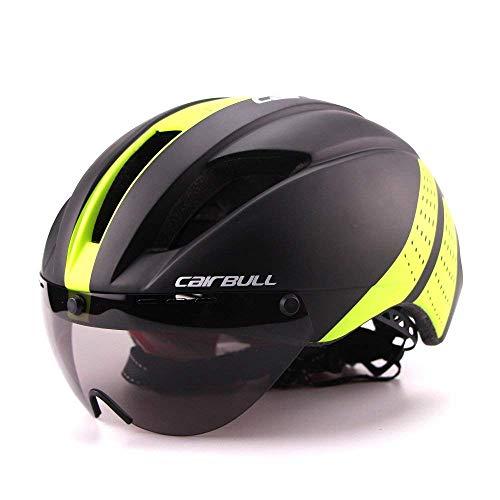 Cairbull Fahrrad Helm 57-61cm Erwachsene Ultralight TT Road Fahrrad Sicherheit Helm mit Abnehmbarem Schild Visier -