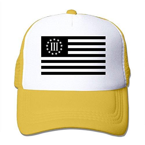 KKAIYA 3 Percenter Flag Big Foam Trucker Baseball Cap Mesh Back Adjustable Cap -