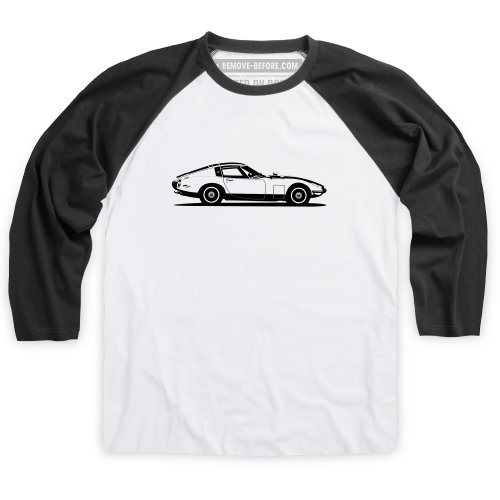 2000gt-coupe-grand-tourer-t-shirt-de-baseball-homme-blanc-noir-xl