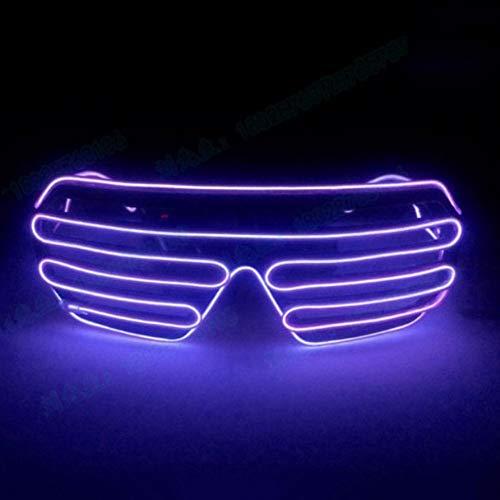 Balai Leuchtbrille Leuchten LED Shutter Shade Brille Fun Konzert + Taste wechseln für Masquerade Party, Nacht Pub,Bar Klub Rave,70er 80er 90er Kostüm (Für Glow Kostüme Wire)