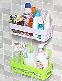 #10: Techsun Bathroom Plastic Shampoo Toothbrush Holder Razor Sponge Organizer Storage