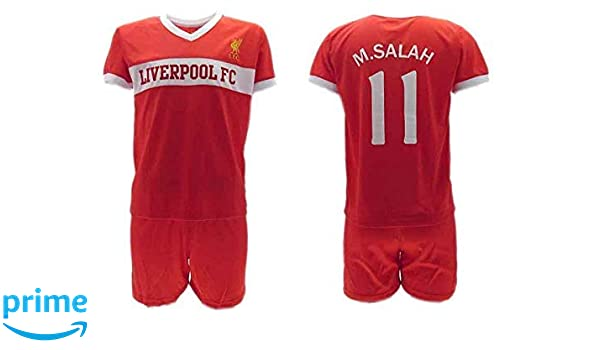 new arrival 206a0 a10d9 HOME KIT Complete Soccer Football Mohamed MOMO SALAH 10 ...