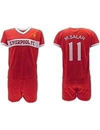 Conjunto Fútbol Mohamed Momo Salah 10 Liverpool Roja Reds Temporada 2018-2019 Replica Oficial con Licencia - Caja de Regalo Camisa +…