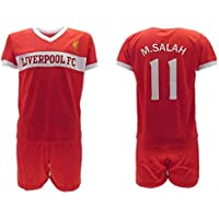cfc9665fc HOME KIT Complete Soccer Football Mohamed MOMO SALAH 10 LIVERPOOL Red Reds  Season 2018-2019