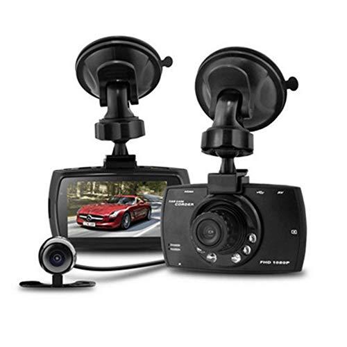 TIANZZ Volles HD 1080P Auto Dash Cams DVR-Armaturenbrett-Kamera, eingebaut in G-Sensor-Bewegungserkennungs-Loop-Recorder (SD-Karte ist Nicht im Lieferumfang enthalten),Black