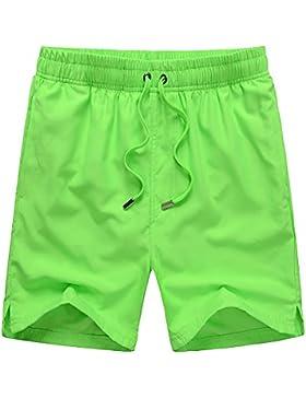 Pantalones Cortos de Playa de Color Sólido Verano nuevos Hombres de Velocidad de Surf Multicolor XL par Trotar...