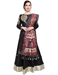 Mrinalika Fashion Cotton Silk Digital Print Dupatta (Dupattas For Womens _Salwar Suit Dgdpt19_Orange_Free Size)