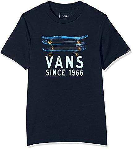 Vans_Apparel Skate Stack S, T-Shirt Garçon, Bleu (Navy),