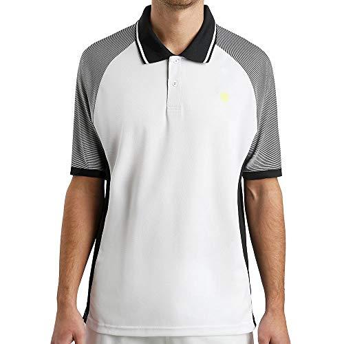 K-Swiss Hypercourt Express - Polo da Tennis da Uomo, Colore: Bianco/Nero, Uomo, Infradito Colorati Estivi, con finte Perline, Medium