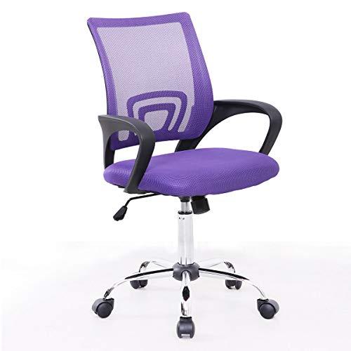 SVITA Kinder Schreibtischstuhl Bürostuhl Netzbezug Drehstuhl Stuhl Schreibtisch (Lila)