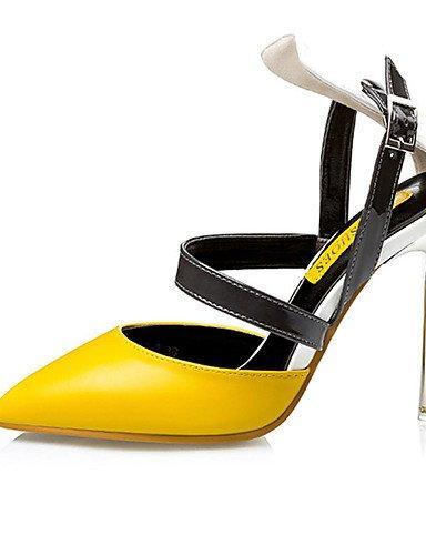 WSS 2016 Chaussures Femme-Décontracté-Noir / Jaune / Rose-Talon Aiguille-Talons-Chaussures à Talons-Polyuréthane yellow-us7.5 / eu38 / uk5.5 / cn38