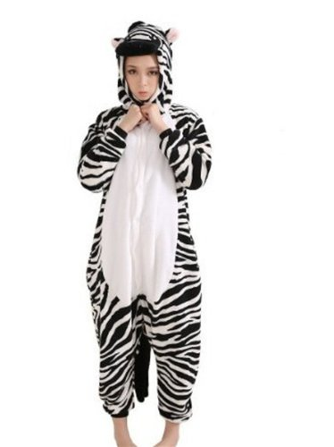 Preisvergleich Produktbild Amour-Sleepsuit Pyjamas Kostüm Cosplay Homeware Lounge Größe passt S / M / L / XL (m,  Zebra)