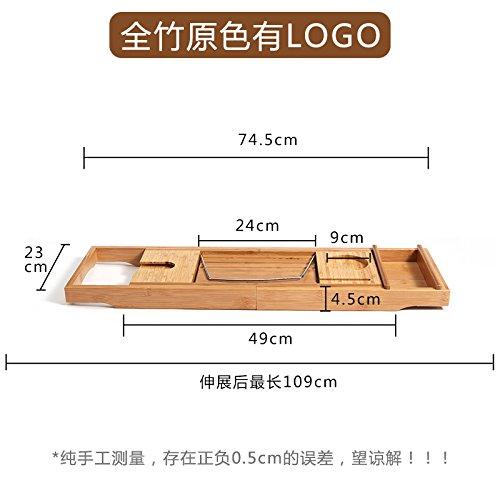 Vasca da bagno scalabile Rack antiscivolo wc di bambšŽ-rack vasca da bagno Vasca da bagno spa cremagliere , Generale) / full bamboo finitura naturale
