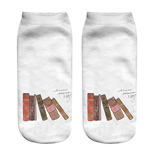 XuxMim Beliebte Lustige Unisex Kurze Socken 3D Graffiti gedruckt Fußkettchen Socken Casual Socken