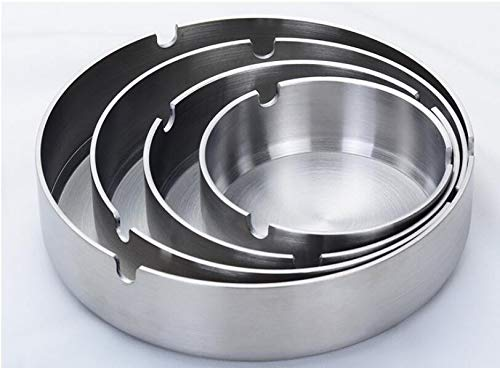Preisvergleich Produktbild Runder Aschenbecher Metall Lustige Aschenbecher Kreative Edelstahl Aschenbecher 50 stücke Top Qualität Asche Vorratsbehälter