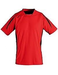 3c7b389d4ec0e SOL S T-Shirt Football à Manches Courtes