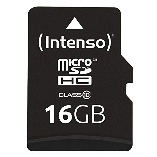 Gb-20 Digitalkamera (Intenso Micro SDHC 16GB Class 10 Speicherkarte inkl. SD-Adapter schwarz)
