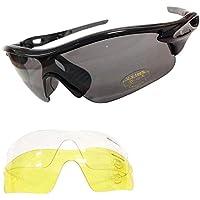 VeloChampion Warp Montatura Nero (Black) Occhiali da sole per ciclismo (con 3 lenti: incl. sfumata, trasparente)