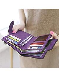 Dailyinshop Cartera Vintage con Cremallera para Mujer, Carteras, monederos, monederos, Carteras,