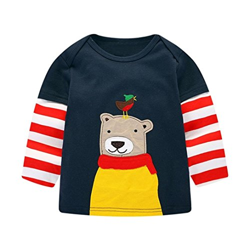mingfa Jungen Mädchen Kids Kinder Long Sleeve Cartoon -