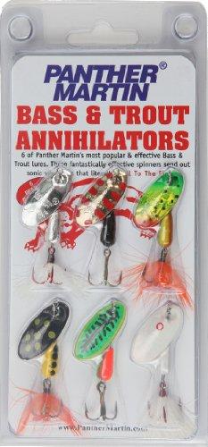 Panther Martin Bass und Trout Annihilator Spinner Fishing Lure Kit, 6Stück -