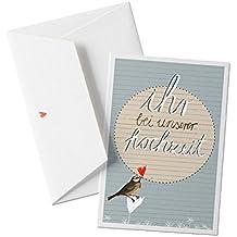 50x Hochzeitseinladungen Set Inkl. Druckservice   Ihr Bei Unserer Hochzeit    Blau Mit Individueller Rückseite Hochzeitseinladung Einladungskarten Set  ...