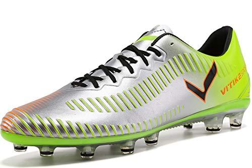 Elaphurus Herren Fußballschuhe Unisex-Erwachsene FG/AG Fußball Schuhe, 1-grün, 42 EU