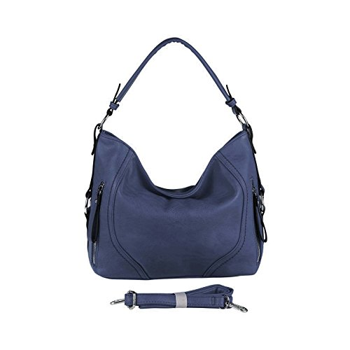 OBC Only-Beautiful-Couture, Borsa tote donna grigio Hellgrau 37x29x13 cm ca.: 37x29x13 cm (BxHxT) Dunkelblau
