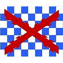 magFlags Bandera Large Tercio Ambrosio de Spinola 1621 | Tercio Ambrosio Spinola hacia 1621. Aparece en la obra de Velázquez La rendición de Breda | bandera paisaje | 1.35qm