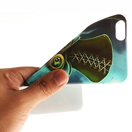 iPhone 6 Plus / 6S Plus (5,5 Zoll) Hülle,iPhone 6 Plus / 6S Plus (5,5 Zoll) Case, Cozy Hut TPU Silikon IMD Technologie Handy tasche Handycover Tasche Hülle Kunst Gemalt Backcover Schutzhülle Handyhüll Nette Eule