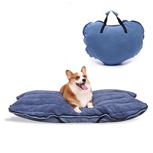 Große Hundehütte herausnehmbare und waschbare Haustiermatte faltbares Hundebett im Freien Corkey Teddy Golden Retriever Zwinger (Color : Blue)