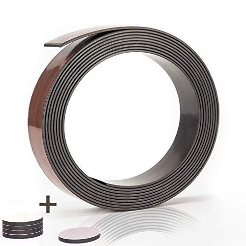 Prime Stuff Magnetband - [3m] Selbstklebende Magnetleiste mit starkem Halt - Universell einsetzbarer Magnetstreifen für die Küche, Schule, Werkstatt und Co. - Magnetklebeband | Magnet selbstklebend
