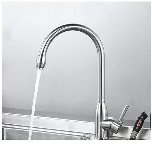 Wasserhahn Küche heiß und kalt Waschbecken Spülbecken Wasserhahn Edelstahl Swivel Wasserhahn Hotel Korrosionsbeständigkeit heiß und kalt Dual Control Kein Rostmischer ( größe : 180mm )