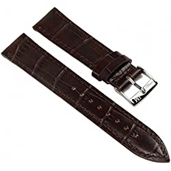 Morellato Bolle Watch Band Leather Kalf dark brown 24mm fits for AR0337 AR0348