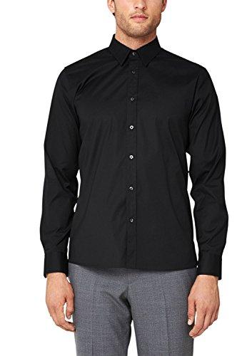 s.Oliver BLACK LABEL Herren Slim Fit Business Hemd, Gr. Kragenweite: 38 cm (Herstellergröße: 38) Schwarz (Black 9999)