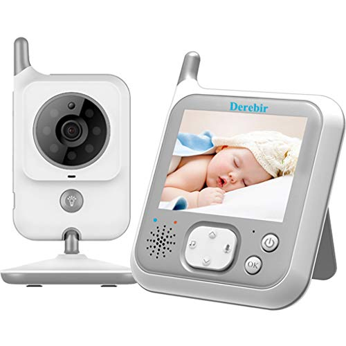 Vigilabebés Inalambrico Bebé Monitor Inteligente con Cámara Audio Pantalla LCD de 3.2 Monitoreo deTemperatura...