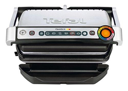 Tefal GC702D Optigrill, Standard-Modell, 2000 W, automatische Anzeige des Garzustandes, 6 voreingestellte Grillprogramme, Edelstahl schwarz/silber - 2