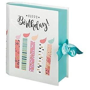 Idena 30206 – Geschenkbox Buch Happy Birthday, Größe 23x19x7 cm, Geburtstag, Geschenkkarton, Geschenkverpackung…