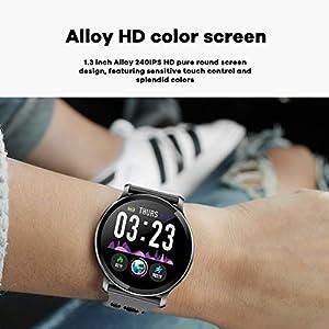 CanMixs CM10 Smart Watch, Reloj Inteligente a Prueba de Agua IP67 Pulsera Inteligente con Monitor de Ritmo cardíaco, Contador de calorías, Monitor de sueño, notificación de SNS para Android iOS