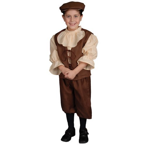 Dress up America Colonial Costume Set with Shirt/ Trousers/ Vest and Hat (M) by Dress Up ()