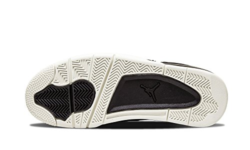 Nike Air Jordan 4 Retro Premium, Chaussures de Sport Homme Noir / Gris (Noir / Black-Sail)