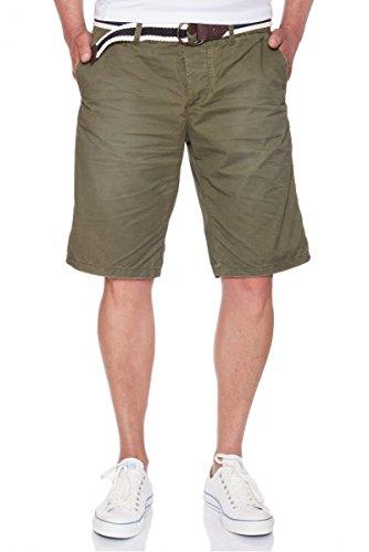 JET LAG Chino Shorts in vielen verschiedenen Farben und einem floralem Muster Oliv