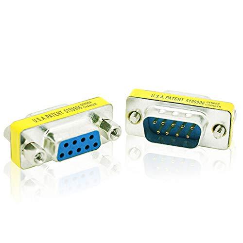 Liamostee 9-poliger Stecker-Buchsen-Gender-Wechsler Konverter DB9 Serieller Adapter RS232-Anschluss -
