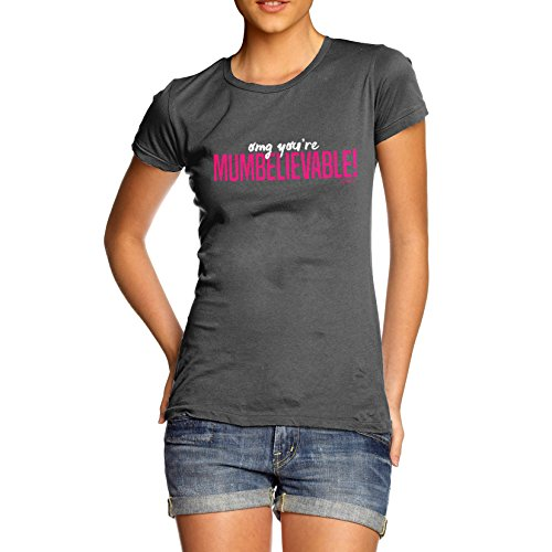 TWISTED ENVY  Damen T-Shirt Dunkelgrau