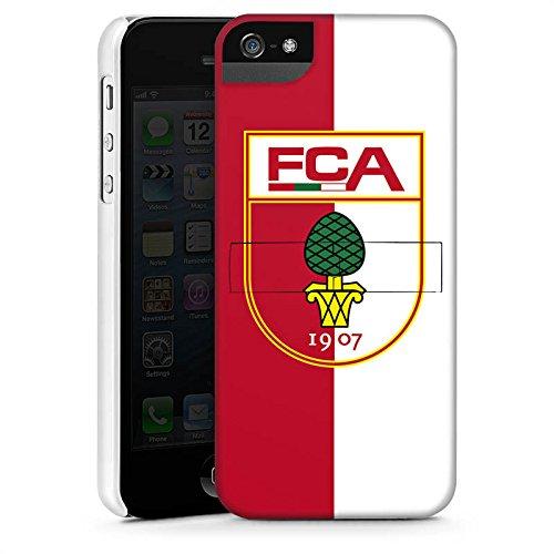 Apple iPhone X Silikon Hülle Case Schutzhülle FC Augsburg Fanartikel Bundesliga Premium Case StandUp