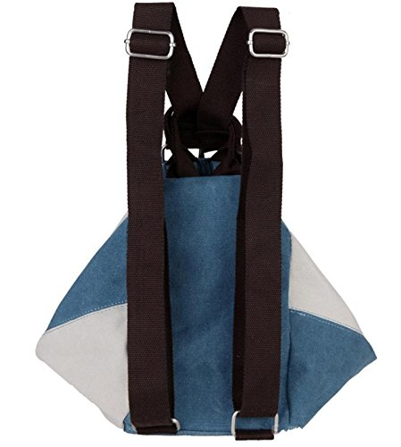 &ZHOU Borsa di tela, Multi-funzionale, multi-purpose moda cuciture Borsa a tracolla uomini e donne moda tendenza tela borsa a tracolla diagonale pacchetto, borsa a tracolla borsa , coffee with white blue with white